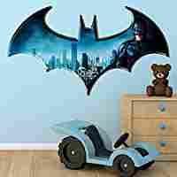 Batman Dark Knight Logo DC Superhero Comic Full Colour Wall Art Sticker Decal Mural Children's Bedroom Transfer Graphic