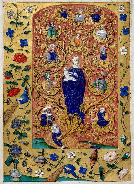 Tree of Jesse - Genealogy of Christ | London BL - MS Harley 1892, fol-31v