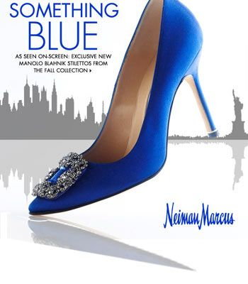 Blue manolo blahnik sex and the city