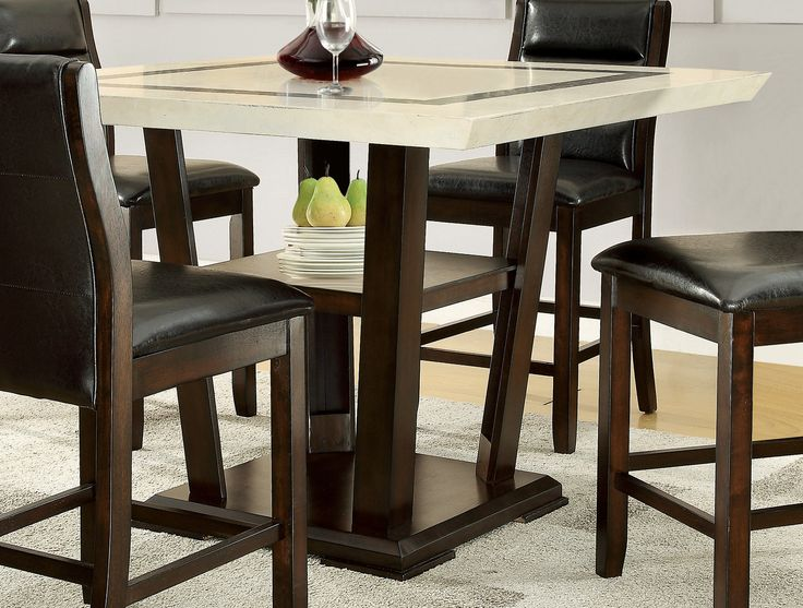 Luxury Bar Height Pedestal Table