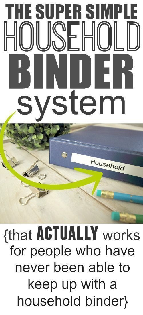 The simple household binder system that works for everyone!... Even those who have never been able to keep up with a binder system in the past!