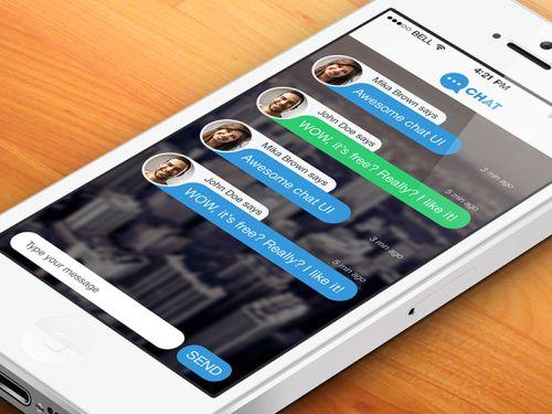 Messenger Chat Screen PSD