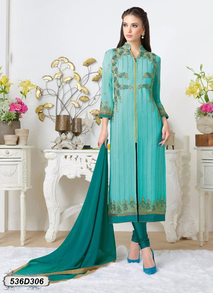 Buy Beguiling Blue Colored Designer Salwar Suit Get 30% Off on Designer Salwar Suits From Leemboodi Fashion with Free Shipping in INDIA Now Available on Cash On Delivery