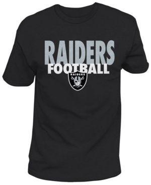 Authentic Nfl Apparel Men's Oakland Raiders Stunt Blitz T-Shirt - Black XXL