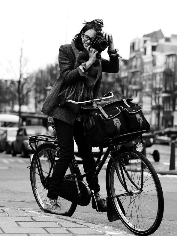 bike/camera/oxfords.