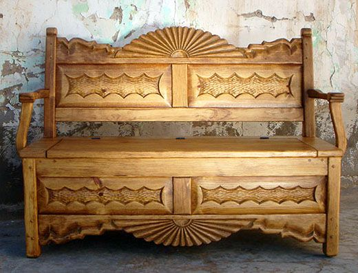This bench is gorgeous! This would look great in the vestibule when you come in through the front door.
