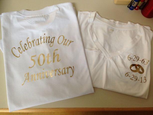 Wedding T Shirt Ideas: 50th Wedding Anniversary Shirts! Golden Anniversary. They