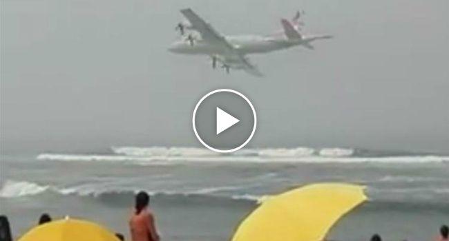 Avião Da Força Aérea Portuguesa Voa Junto à Praia e Assusta Banhistas http://www.desconcertante.com/aviao-da-forca-aerea-portuguesa-voa-junto-praia-e-assusta-banhistas/