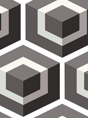 Geometric Print - 93/1002 - HEXAGON-DARK GREY - Geometric Wallpaper - DecoratorsBest $97.50