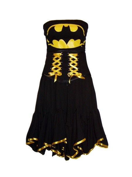AKASHA  BATMAN Dress PLUS Mask SMALL/MED by MissLovettClothing