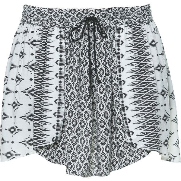 Zara Printed Skirt found on Polyvore