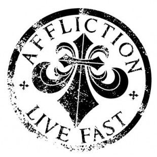 Affliction Clothing brand. Great for T-shirts and other tops.