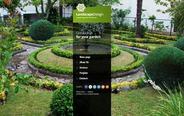 Landscape Design Creative Garden Solutio HTML5 Template by