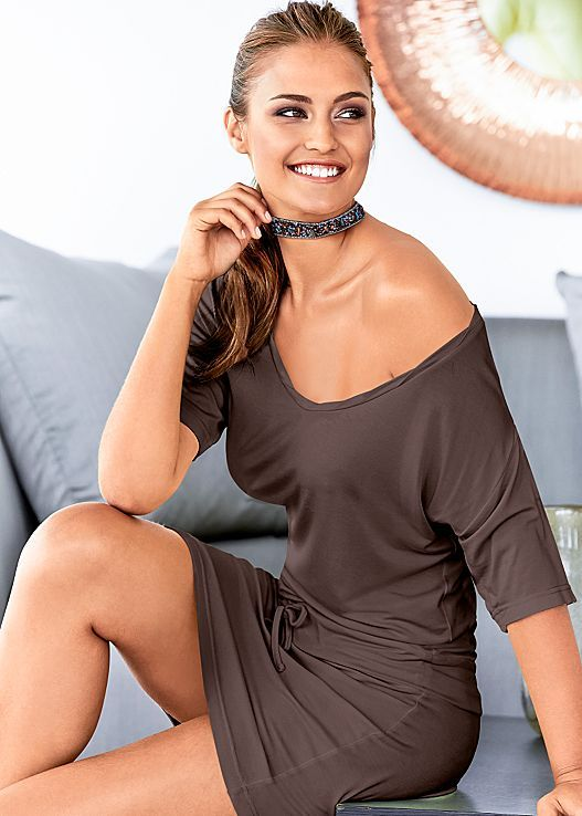 Casual day look achieved! Venus casual tie waist dress with Venus beaded choker.