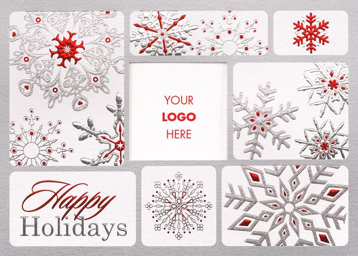 19 best business holiday cards images on pinterest business festive snowflake logo holiday card advanced printing graphic solutions colourmoves