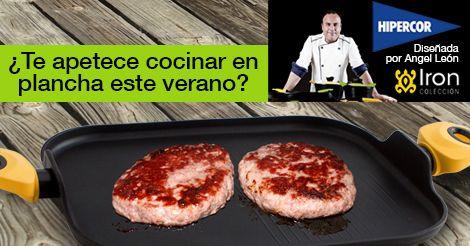 Este verano, cocinarás a la plancha. Descubre la batería de cocina Iron by Ángel León, el Chef del Mar. Disponible en Hipercor.