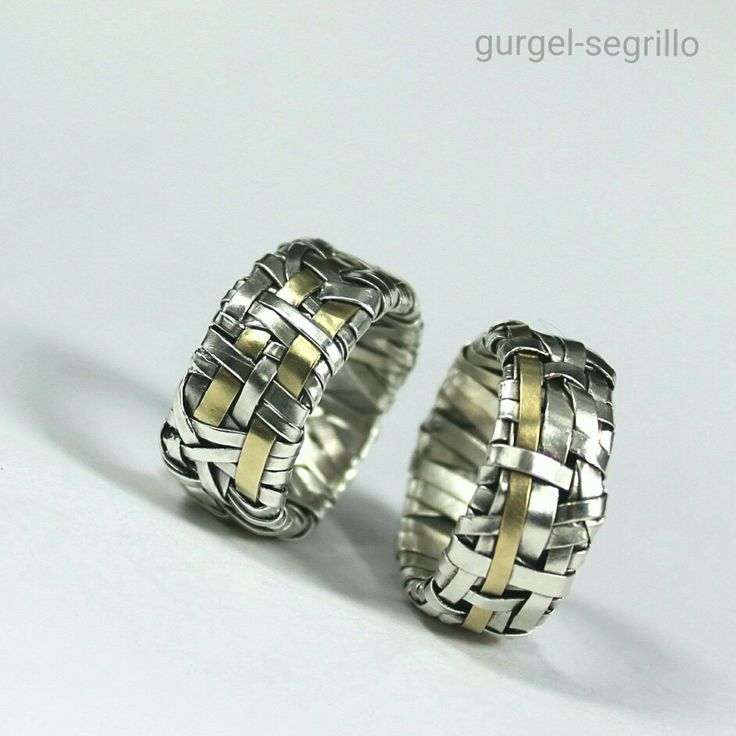 woven series wedding rings handcrafted to order by gurgel-segrillo
