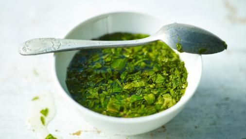 Mint grows so freely that once you know the trick you never need buy mint sauce again.