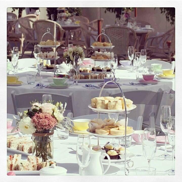 || The beautiful tables at our designer bridal high tea || http://timessquare.com.au/ || #timessquareclaremont #stmdesignerbridalhightea #hightea #flowers #cakes #foodporn #beautiful #pretty #bridal #wedding #events #bride #designer #wadesigners #walabels #champagne #avionway