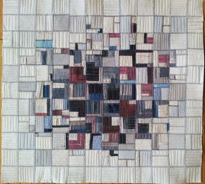 """In the Town"" by Misik Kim--a quilt, but could be used as a pattern for a pojagi"