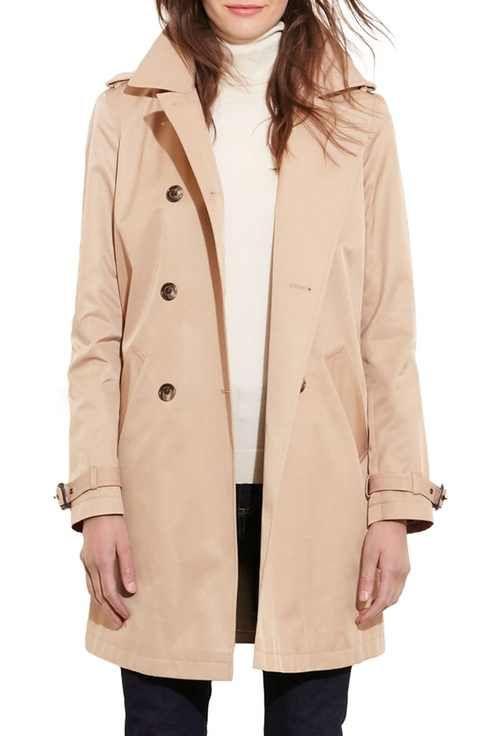 Lauren Ralph Lauren 'Balmacaan' Rain Coat
