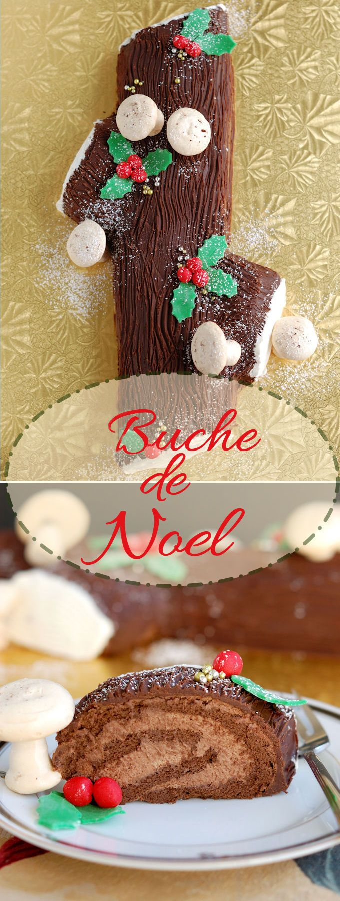 How to make a christmas yule log decoration - Buche De Noel Yule Log Cake