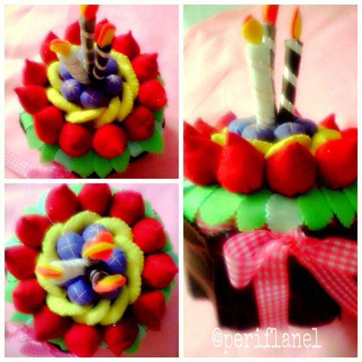 Felt Fruit Cake Jar for 3rd Anniversary SHE Radio Surabaya. Handmade.