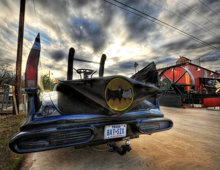 Found the #Batmobile on a #Texas #roadtrip. from #treyratcliff at www.StuckInCustom... - all images Creative Commons NoncommercialTreyratcliff, Trey Ratcliff, Mobilebi Trey, Bats Mobilebi, Inspiration Photography, Comics Stuff, Batmobile Pics, Hdr Photography, Amazing Photos