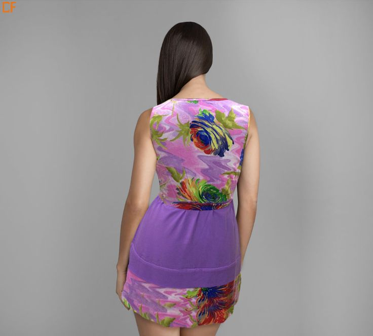 Summer dresses are taking dressing up to another level as such. Grab this pretty purple floral dress. This give you an illusion of peplum without actual looking wide. #DroomFashion #Illusion #Purple #Floral #Mini #SummerDress #Peplum  To shop, visit us on http://www.droomfashion.com/