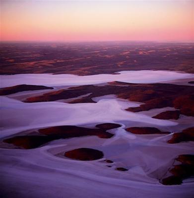 Surreal Lake Gairdner, South Australia