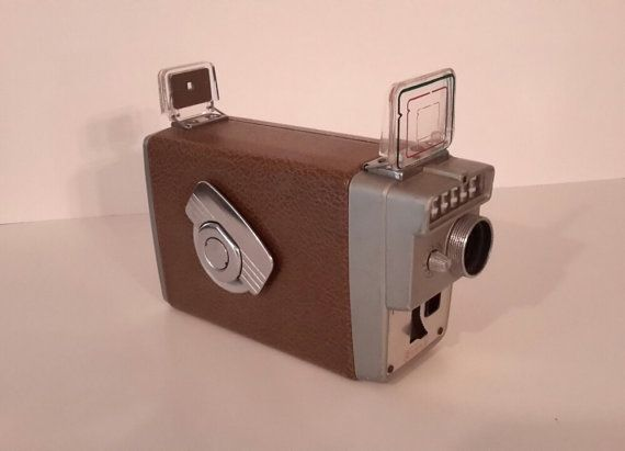 Vintage Kodak Brownie 8mm Movie Camera by OurVintageNest on Etsy