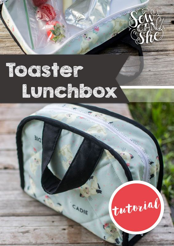 Adorable lunchbox sewing pattern - uses a cutwork zipper!
