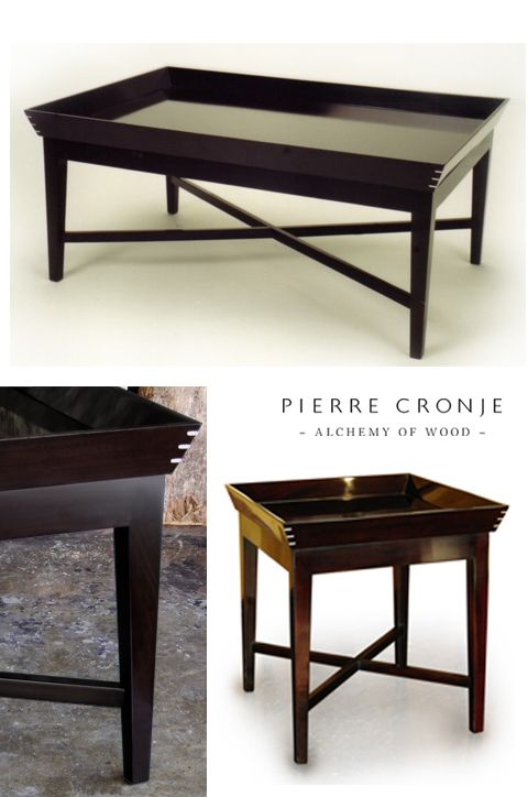 Pierre Cronje Manhattan Coffee Table in Mahogany with a French Polish finish