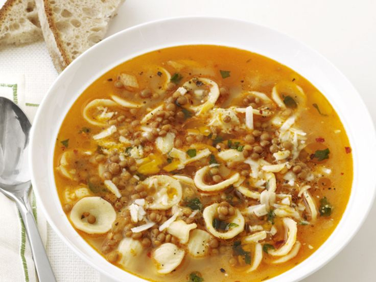 Pasta and Lentil Soup recipe from Food Network Kitchen via Food Network