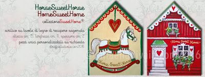 raffaelladivaio*illustrazione e creatività: PRENOTA I TUOI REGALI DI NATALE Sono aperte le prenotazioni per i regali di Natale UN DONO PERSONALIZZATO ARRIVA SEMPRE AL CUORE HorseSweetHorse + HomeSweetHome collezioneSweetHome® acrilico su tavola di legno di recupero sagomata altezza cm. 15, larghezza cm. 11, spessore cm. 2 pezzi unici personalizzabili su richiesta ©raffaelladivaio.com2016