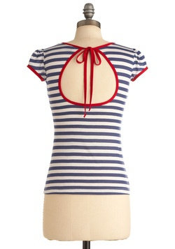 I Love You, I Love You Nautical Top, #ModCloth