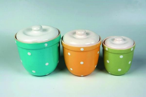 1950's Australian Diana ceramic canisters