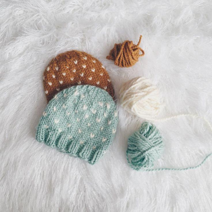 "FREE hat knitting pattern. ""Flurries"" by Margo Snyder margoknits.com"