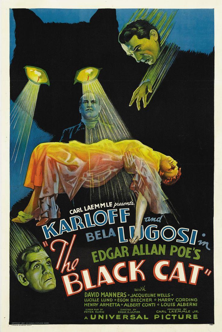 "Carl Laemmel Presents Karloff And Bela Lugosi In Edgar Allan Poe's ""The Black Cat"" With David Manners, Jacqueline Wells Lucille Lund, Egon Brecher, Harry Cording Hendrey Armetta, Albert Conti, Lous Al"