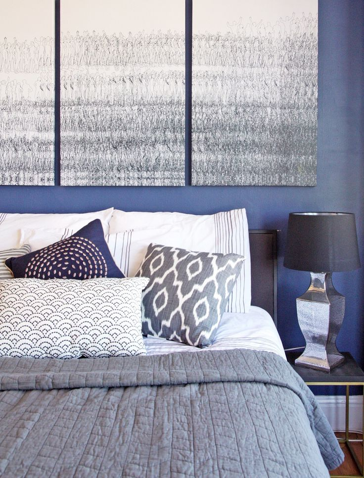 A Blue, Boutique Hotel-Inspired Bedroom — Professional Project
