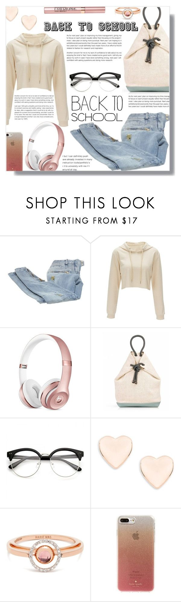 """Back to school - Contest!"" by sarguo ❤ liked on Polyvore featuring Balmain, Ted Baker, Marie Mas, Kate Spade, L'Oréal Paris, BackToSchool and sweatshirtsitwithus"
