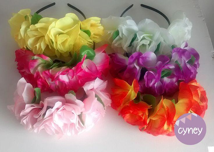 Vincha flores Casamientos Cotillon Bodas Eventos