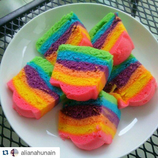 There isn't a prettier example of what the TruColor natural food coloring looks like when baked in a cake. Great job @alianahunain! They are available in my online store,  link is in my profile for pricing and availability. ・・・ I have a knife with me, at all times.. In case of #cake  #glutenfree #rainbow #rainbowcake #colorful #naturalfoodcoloring and no #frosting nedeed
