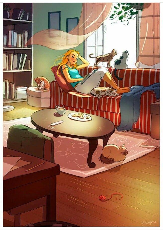 'Perfectly Sane Cat Lady' By Yaoyao Ma Van As