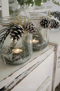 Schöne Weihnachts Deko mit Tannenzapfen Mehr