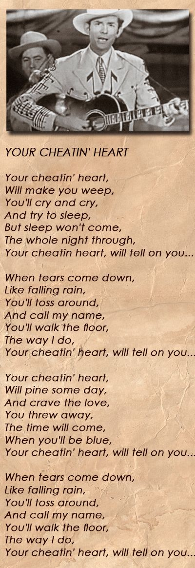 Cheatin Heart~Hank Williams Jr.~ With Lyrics - YouTube