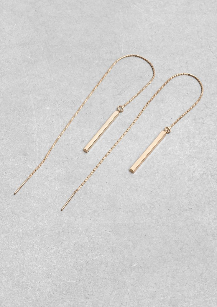 Minimal + Classic: Brass Chain Earrings | & Other Stories
