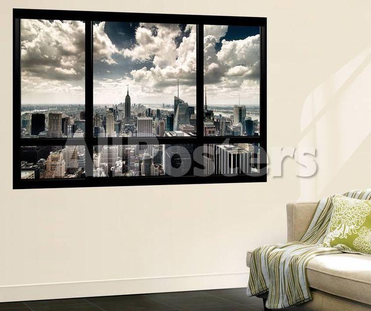 View of Manhattan, New York from Window Poster géant par Steve Kelley sur AllPosters.fr