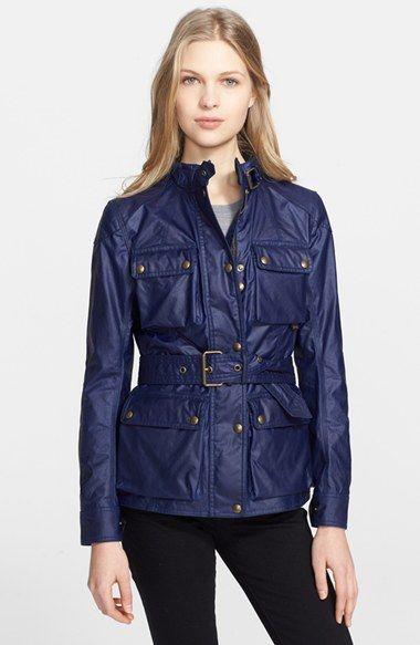 Women's Belstaff 'Roadmaster' Waxed Cotton Coat
