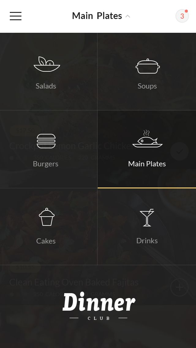 Dinner Club - Menu by Konstantin Vorontsov